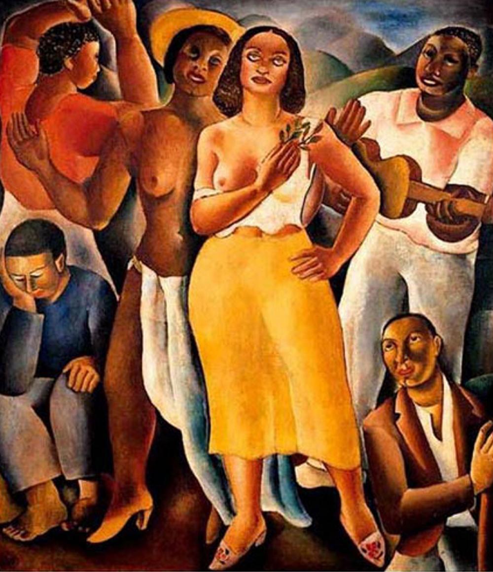 'Samba' (1926), representante do modernismo brasileiro, de Di Cavalcanti