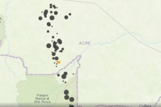 Tremor foi registrado no município de Tarauacá, no Acre